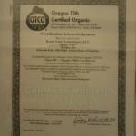 Sijil Oregon Tilth Certified Organic