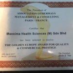 Award Maxxima Health Sciences M Sdn Bhd