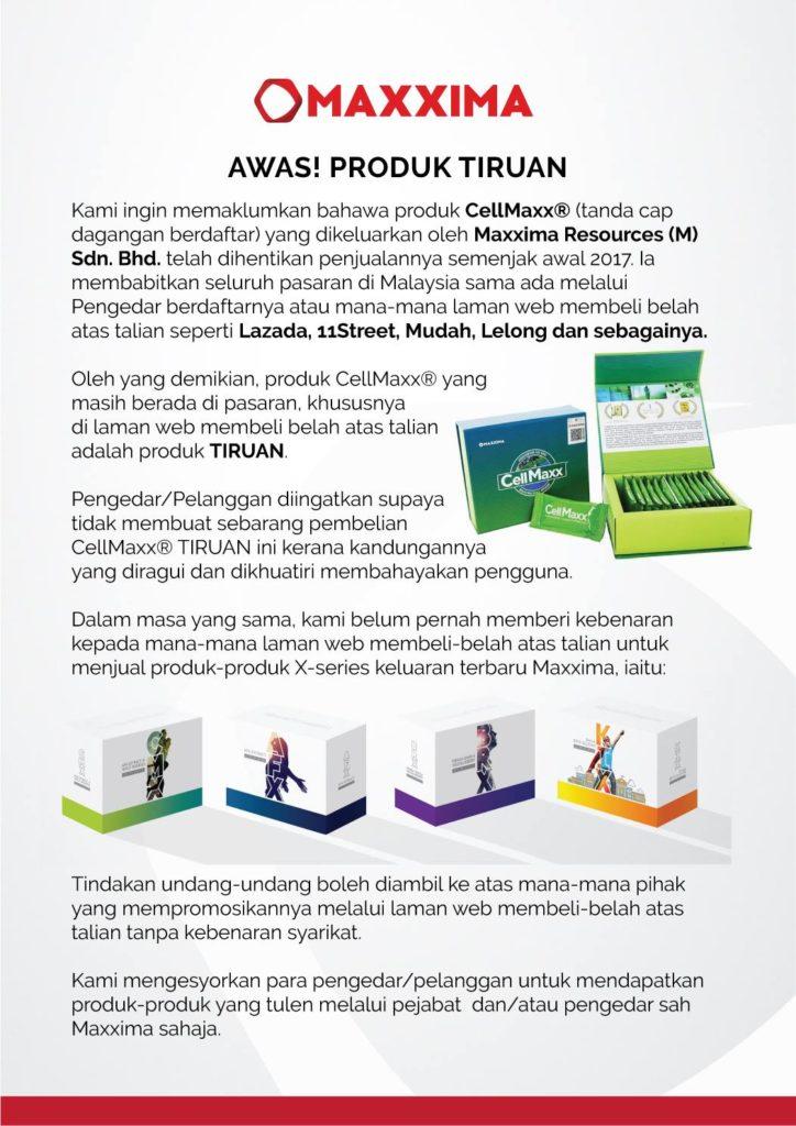 CellMaxx Tiruan Lazada Shopee