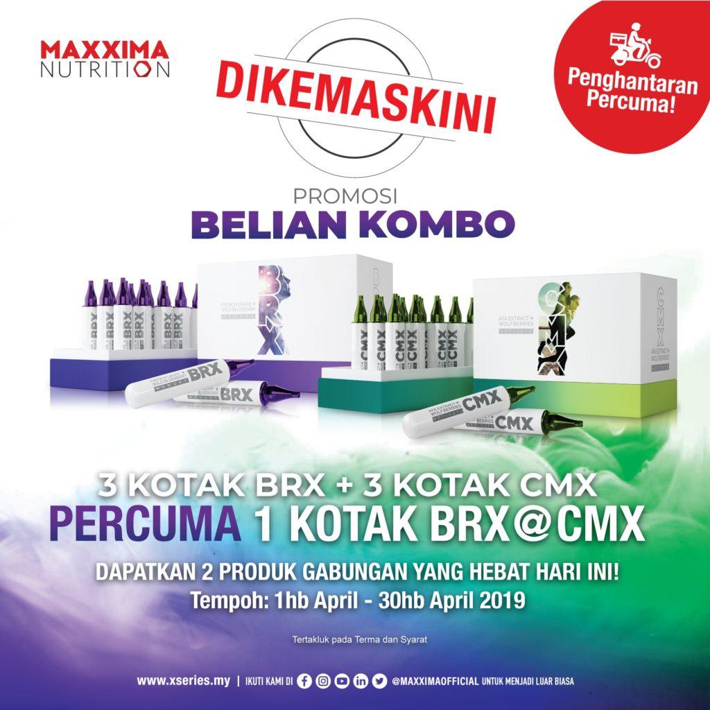 3 CMX + 3 BRX Percuma 1 CMX/BRX