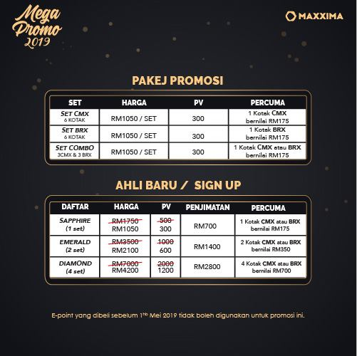 Promosi Mega Maxxima 2019